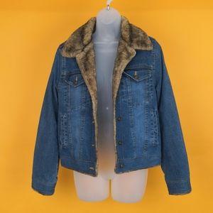 Marvin Richards Women jean jacket sz S puffy rare